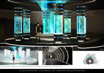 Set Design Visualization - Clear Shampoo - 2011