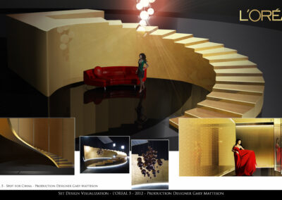 Set Design Visualization - L'Oreal 5 - 2012