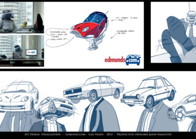 Set Design Visualization - Edmunds.com - Car Heads - 2012