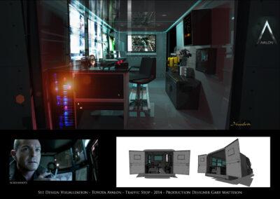 Set Design Visualization - Toyota Avalon - Traffic Stop - 2014