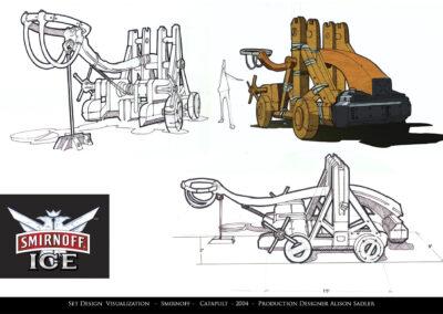 Set Design Visualization - Smirnoff - Catapult - 2004