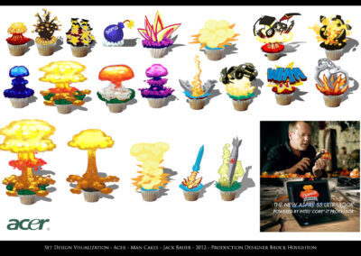 Set Design Visualization - Acer - Man Cakes - Jack Bauer - 2012