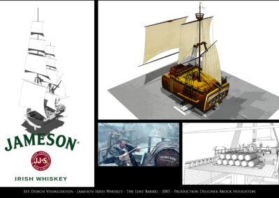 Set Design Visualization - Jameson Irish Whiskey - The Lost Barrel - 2007