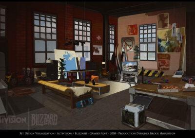 Set Design Visualization - Activision / Blizzard - Gamer's Loft - 2008