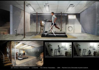 Set Design Visualization - Citibank - The Devil's Treadmill - 2004