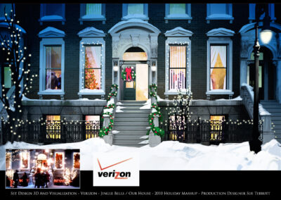 Set Design 3D And Visualization - Verizon - Jingle Bells / Our House - 2010 Holiday Mashup