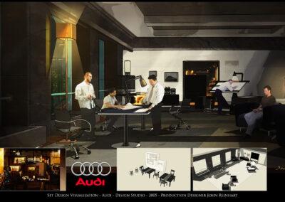 Set Design Visualization - Audi - Design Studio - 2005