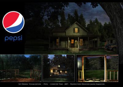 Set Design Visualization - Pepsi - Country Time - 2007