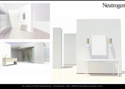 Set Design 3D And Visualization - Neutrogena - 2014