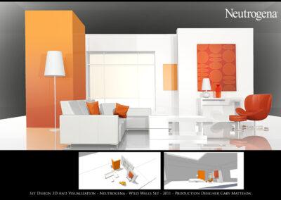 Set Design 3D And Visualization - Neutrogena - Wild Walls Set - 2011