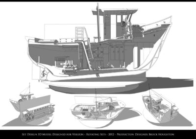 Set Design 3D Model - Verizon - Rotating Sets - 2012