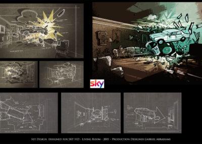 Set Design - Sky HD - Living Room - 2001