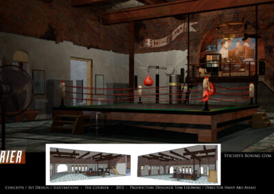 Concepts / Set Design / Illustrations - The Courier 2012