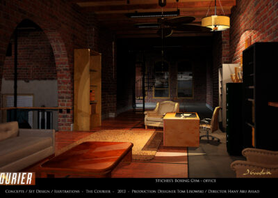 Concepts / Set Design / Illustrations - The Courier - 2012