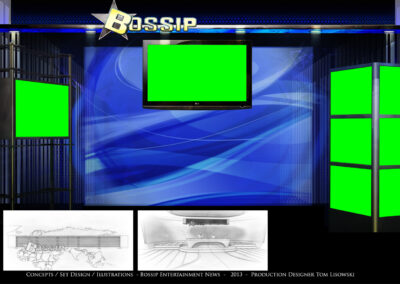 Concepts / Set Design / Illustrations - Bossip Entertainment News - 2013