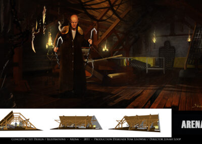 Concepts / Set Design / Illustrations - Arena - 2011