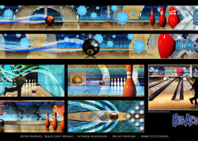 Big Al's Bowling -Black Light Murals