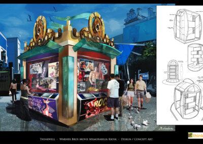 Warner Bros Movie Memorabilia Kiosk